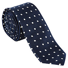 Buy Ben Sherman Spot Silk Tie, Navy Online at johnlewis.com