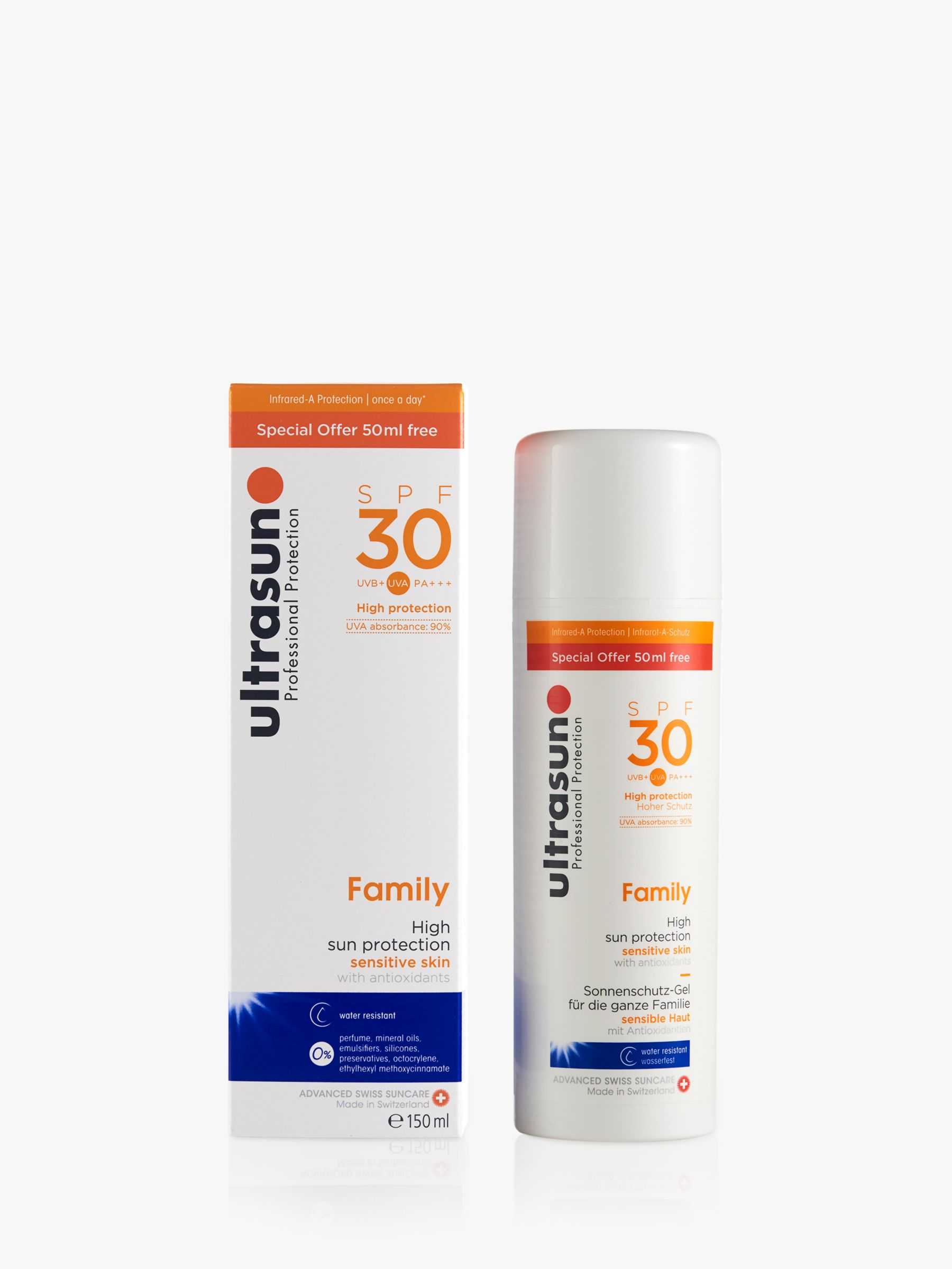 Ultrasun Ultrasun SPF 30 Family Ultra Sensitive Sun Cream, 150ml