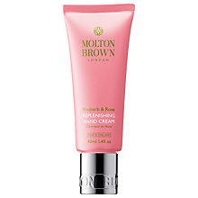 Buy Molton Brown Rhubarb & Rose Replenishing Hand Cream, 40ml Online at johnlewis.com