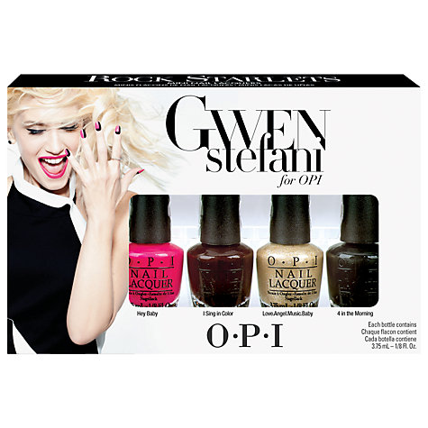 Buy OPI Nails - Gwen Stefani Collection, Rock Starlet Minis, 4 x 3.75ml Online at johnlewis.com