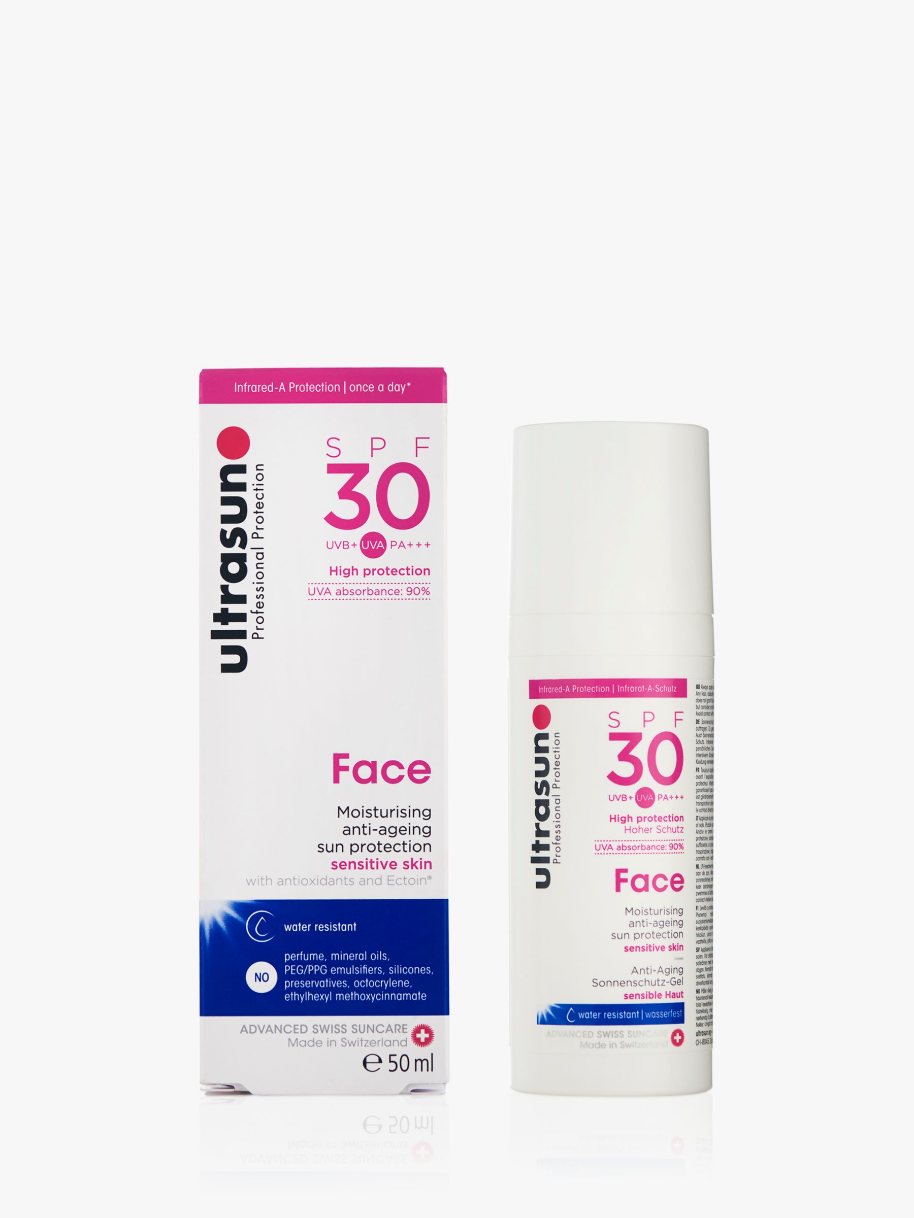 Ultrasun Ultrasun SPF 30 Anti-Ageing Very Sensitive Facial Sun Cream, 50ml