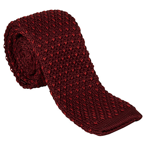 Buy Ben Sherman Knitted Tie, Wine Online at johnlewis.com