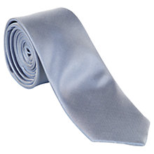 Buy Ben Sherman Plain Silk Tie, Silver Online at johnlewis.com