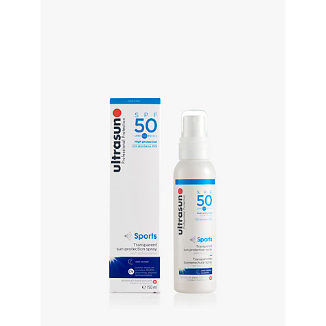 Buy Ultrasun SPF 50 Sports Transparent Sun Protection Spray, 150ml Online at johnlewis.com