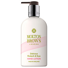 Buy Molton Brown Rhubarb & Rose Enriching Hand Lotion, 300ml Online at johnlewis.com