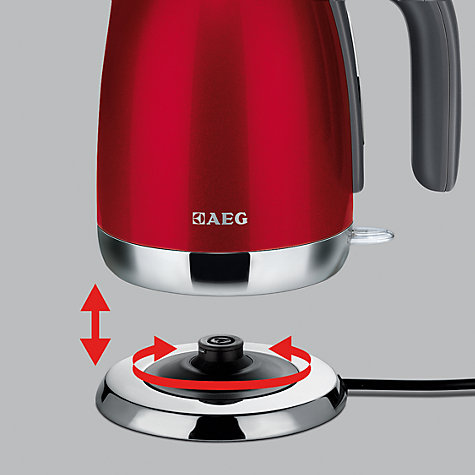 Buy AEG EWA7101U Kettle, Gloss Red Online at johnlewis.com