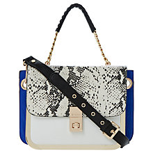 Buy Dune Darbs Boxy Handbag, Black / White Online at johnlewis.com