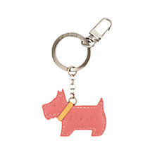 Buy Radley Go Walkies Leather Scottie Dog Keyring Online at johnlewis.com