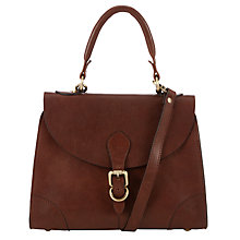 Buy John Lewis Small Leather Top Handle Bag, Tan Online at johnlewis.com