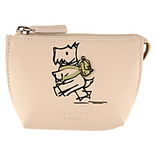 Buy Radley Walk The Walk Small Leather Coin Purse, Ivory Online at johnlewis.com