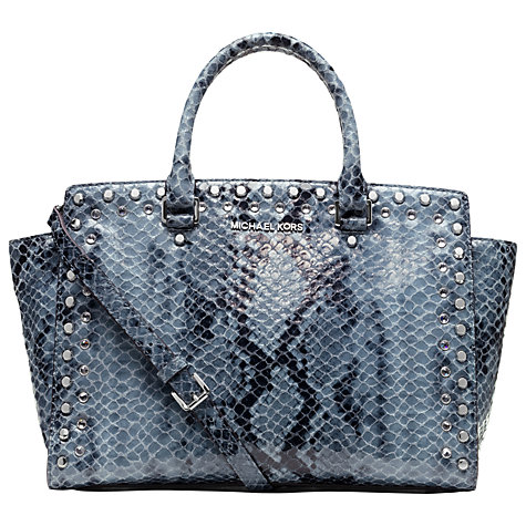Buy MICHAEL Michael Kors Selma Leather Large Tote Handbag Online at johnlewis.com