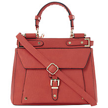 Buy Dune Doven Buckle Detail Tote Bag, Coral Online at johnlewis.com