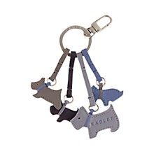 Buy Radley Darlington Mini Scottie Dog Key Ring Online at johnlewis.com
