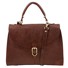 Buy John Lewis Large Leather Top Handle Bag, Tan Online at johnlewis.com
