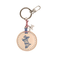 Buy Radley Snap Happy Key Ring, Ivory Online at johnlewis.com