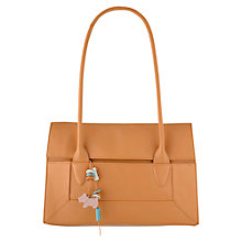 Buy Radley Border Medium Flapover Tote, Tan Online at johnlewis.com