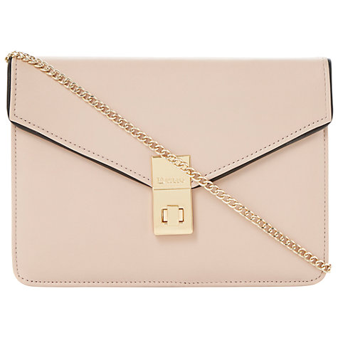 Buy Dune Bashful Leather Shoulder Bag, Nude Online at johnlewis.com
