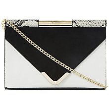 Buy Dune Barrio Clutch/Shoulder Bag, Black/White Online at johnlewis.com