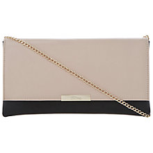 Buy Dune Blushful Leather Clutch Bag, Nude Online at johnlewis.com