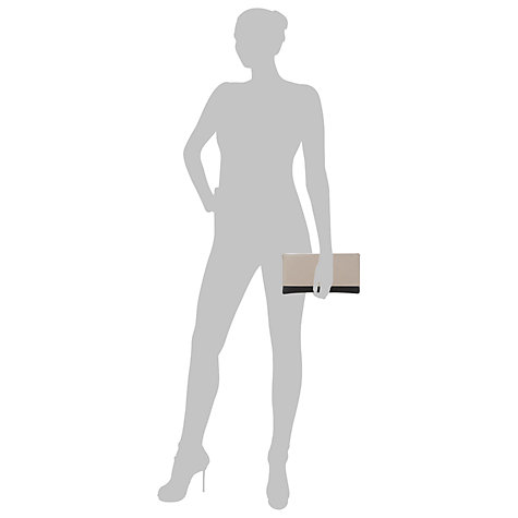Buy Dune Blushful Leather Clutch Handbag, Nude Online at johnlewis.com