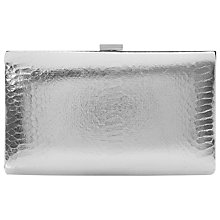 Buy Dune Beloise Clutch Bag, Reptile Silver Online at johnlewis.com