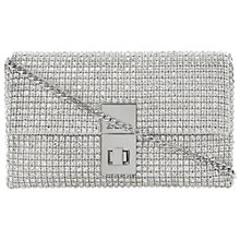 Buy Dune Eliza Diamante Clutch Bag, Silver Online at johnlewis.com