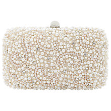 Buy Dune Bedazzled Beaded Clutch Handbag, Ivory Online at johnlewis.com