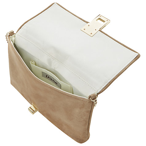 Buy Dune Beautifuls Suede Clutch Bag, Mink Online at johnlewis.com