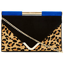 Buy Dune Barrio Clutch/Shoulder Bag, Leopard Pony Online at johnlewis.com