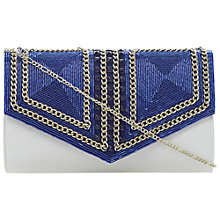 Buy Dune Eaded Beaded Clutch Handbag, Blue Online at johnlewis.com