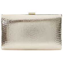 Buy Dune Beloise Clutch Bag, Reptile Gold Online at johnlewis.com