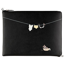 Buy Radley Clean As A Whistle Leather iPad Cover, Black Online at johnlewis.com