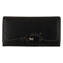 Buy Radley Little Laurels Leather Large Matinee Purse, Black Online at johnlewis.com