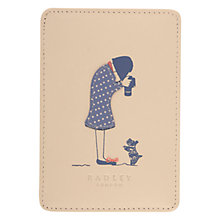 Buy Radley Snap Happy Leather Travel Card Holder, Ivory Online at johnlewis.com