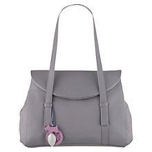 Buy Radley Sherwood Large Flapover Leather Tote Bag, Purple Online at johnlewis.com