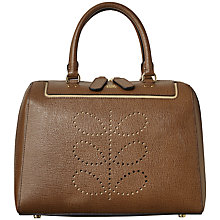 Buy Orla Kiely Peggy Textured Leather Grab Handbag, Buffalo Online at johnlewis.com