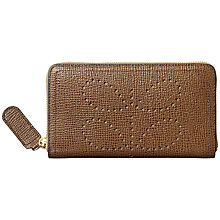 Buy Orla Kiely Textured Leather Zip Purse, Buffalo Online at johnlewis.com