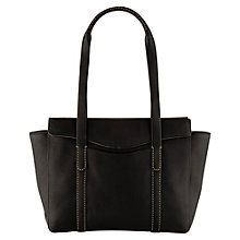 Buy Radley Hinton Large Leather Zip Shoulder Handbag, Black Online at johnlewis.com