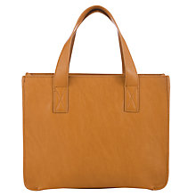 Buy John Lewis Grainy Box Grab Bag, Tan Online at johnlewis.com
