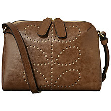 Buy Orla Kiely Iris Textured Leather Shoulder Handbag, Buffalo Online at johnlewis.com