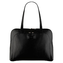 Buy Radley Pippin Large Leather Work Tote Bag, Black Online at johnlewis.com