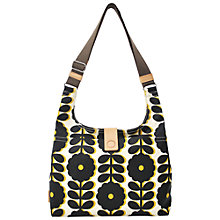 Buy Orla Kiely Wildflower Sling Shoulder Handbag, Black / Yellow Online at johnlewis.com