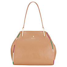 Buy Modalu Tamzin Leather Tote Handbag, Cappuccino Online at johnlewis.com