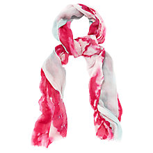 Buy Jaeger Brush Strokes Scarf, Hot Pink Online at johnlewis.com