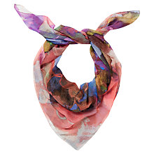 Buy Jaeger Floral Splash Scarf, Multi Online at johnlewis.com