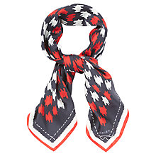 Buy Jaeger Dogtooth Print Scarf, Multi Navy Online at johnlewis.com
