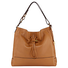 Buy Jaeger Chadwick Leather Hobo Handbag, Camel Online at johnlewis.com