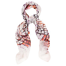 Buy Jaeger Ikat Animal Scarf, Multi Online at johnlewis.com
