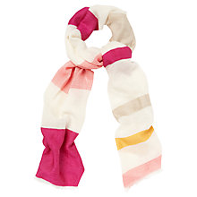 Buy Jaeger Long Woven Stripe Scarf, Multi Online at johnlewis.com