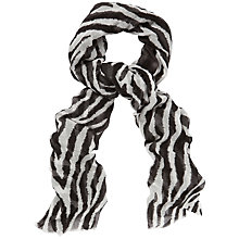 Buy Jaeger Zebra Print Scarf, Black / Stone Online at johnlewis.com
